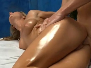 Sexy 18 year old gril gets fucked hard from behind by her massage therapist